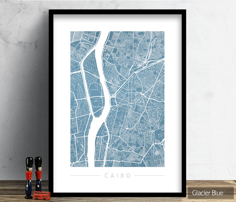 Cairo Map: City Street Map of Cairo, Egypt - Colour Series Art Print