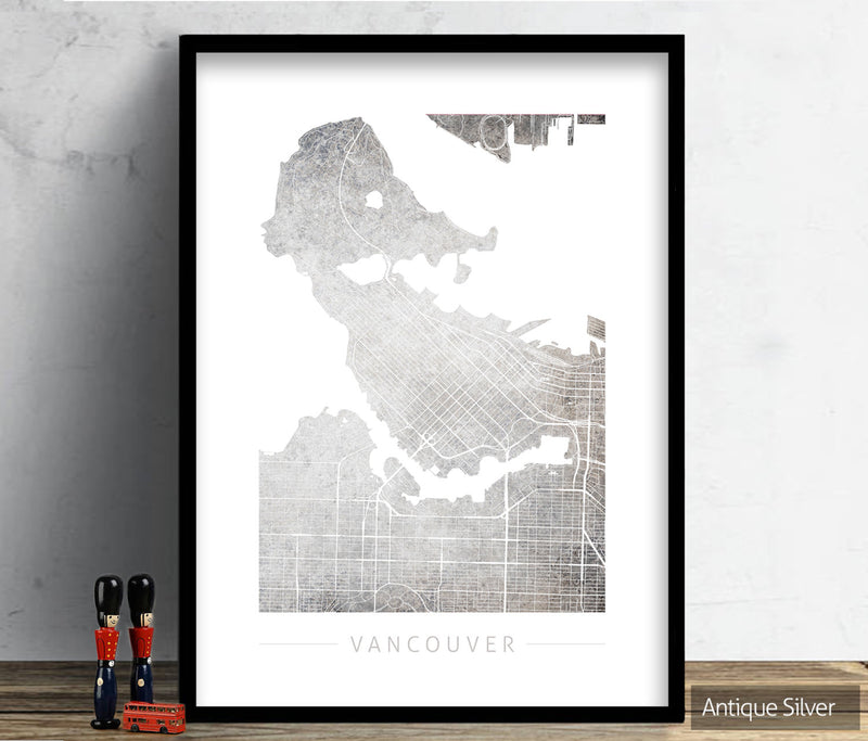 Vancouver Map: City Street Map of Vancouver, Canada - Colour Series Art Print