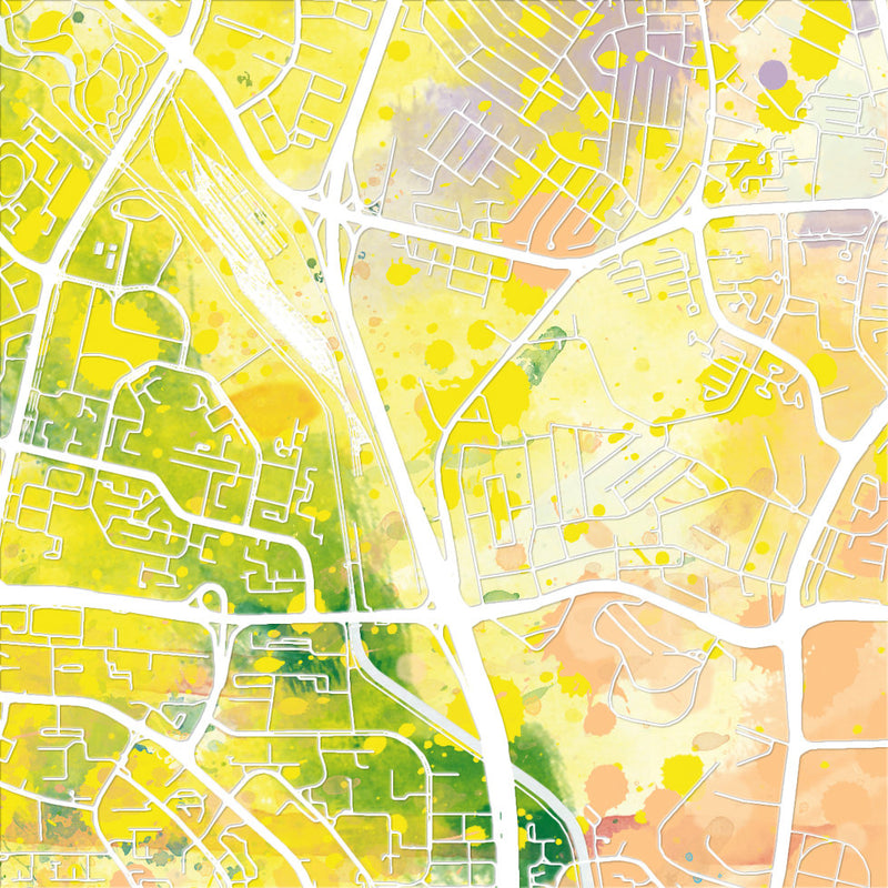 Singapore City Map: City Street Map of Singapore City - Nature Series Art Print