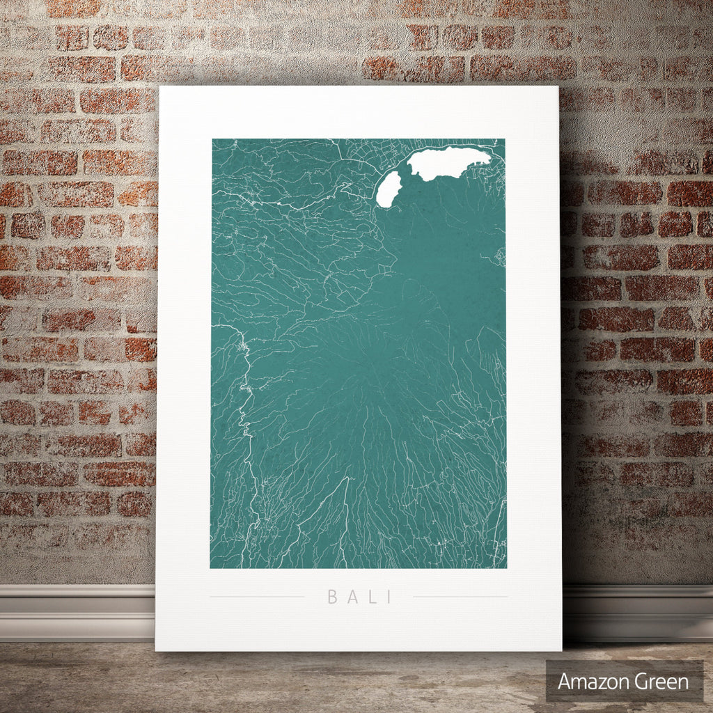 Bali Map: City Street Map of Bali, Indonesia - Colour Series Art Print