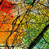 Paris Map: City Street Map of Paris France - Sunset Series Art Print
