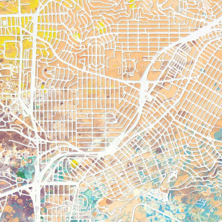 San Francisco Map: City Street Map, California - Nature Series Art Print