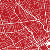 Aberdeen Map: City Street Map of Aberdeen Scotland - Colour Series Art Print