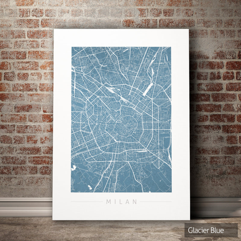 Milan Map: City Street Map of Milan Italy - Colour Series Art Print