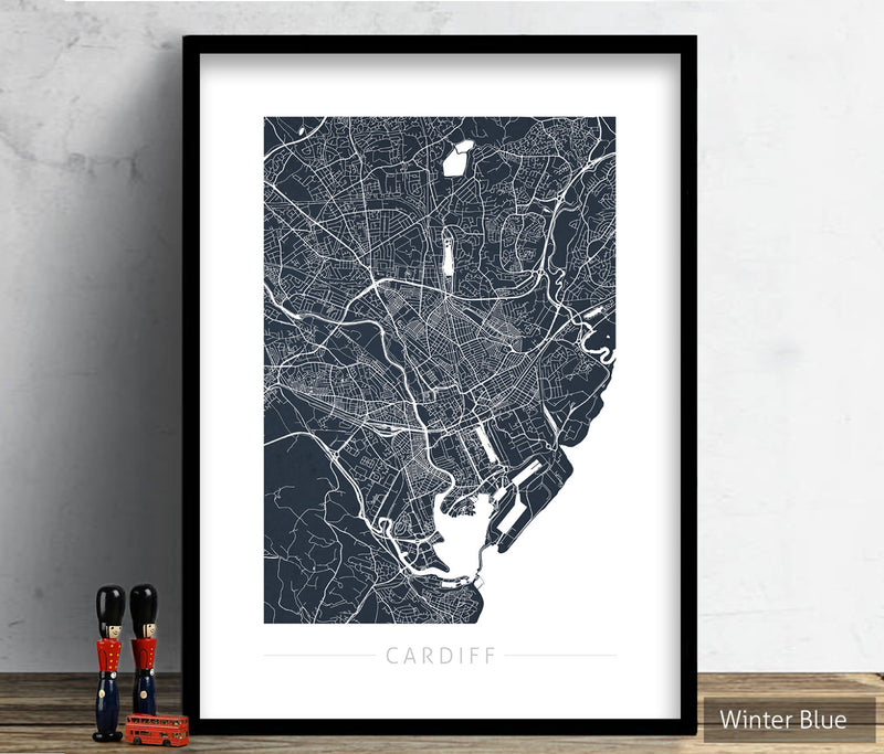 Cardiff Map: City Street Map of Cardiff, Wales - Colour Series Art Print