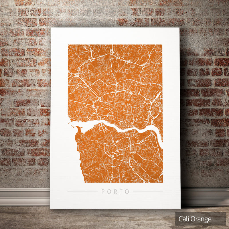Porto Map: City Street Map of Porto, Portugal - Colour Series Art Print