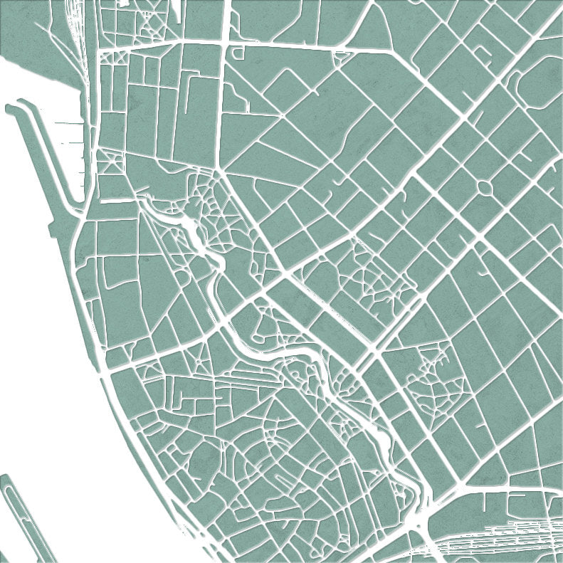 Riga Map: City Street Map of Riga, Latvia - Colour Series Art Print