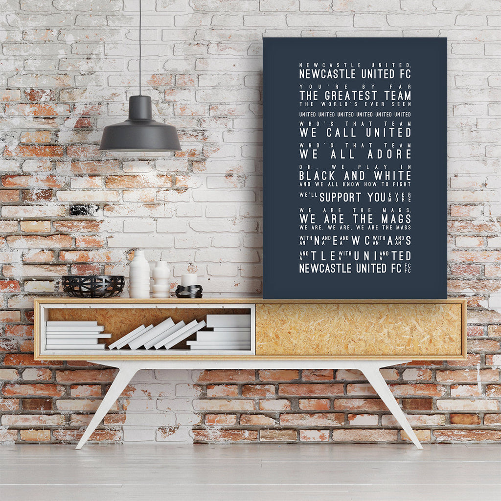 We Are The Mags, Newcastle United FC Inspired Lyrics Football Anthems Print
