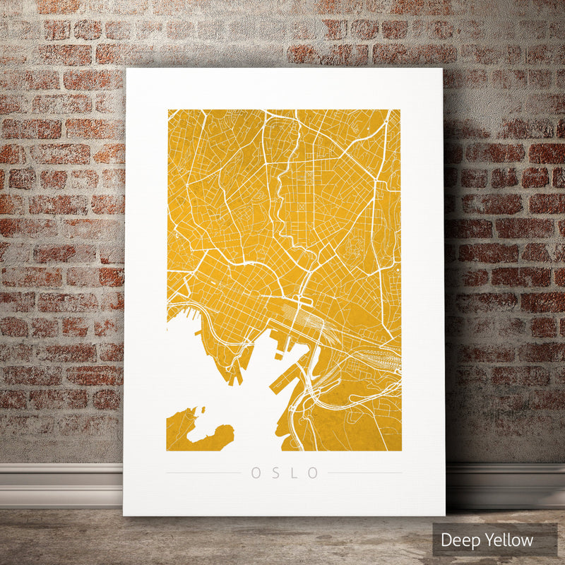 Oslo Map: City Street Map of Oslo, Norway - Colour Series Art Print