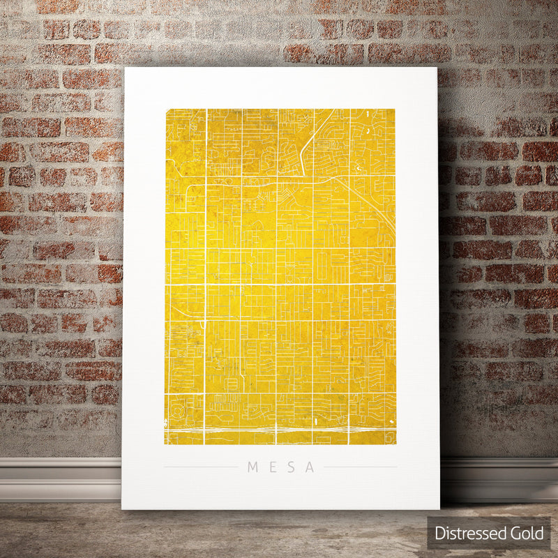 Mesa Map: City Street Map of Mesa, Arizona - Colour Series Art Print