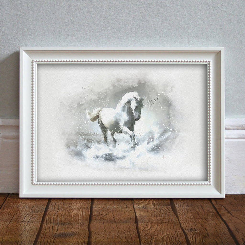 Horse: Watercolor Illustration Wildlife Art Print