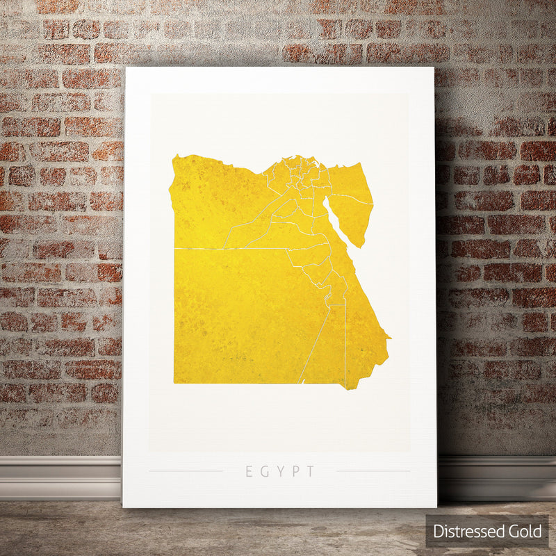 Egypt Map: Country Map of Egypt - Colour Series Art Print