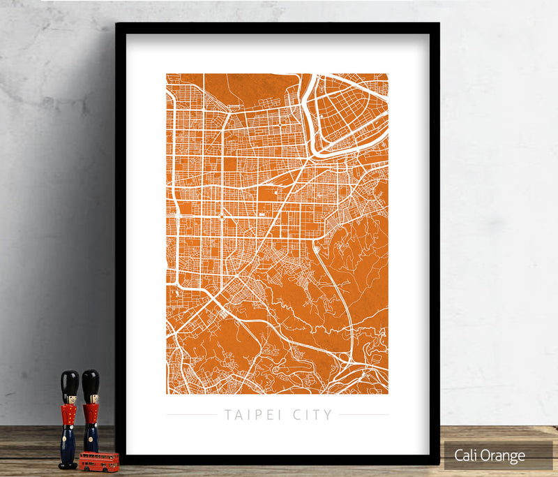 Taipei City Map: City Street Map of Taipei City, Taiwan - Colour Series Art Print