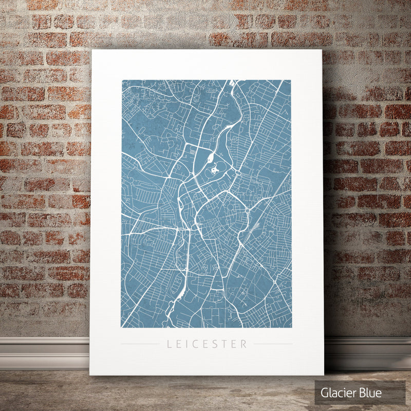 Leicester Map: City Street Map of Leicester, England UK - Colour Series Art Print