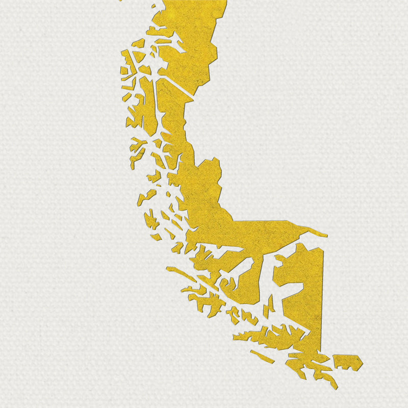 Chile Map: Country Map of Chile - Colour Series Art Print
