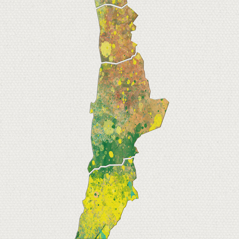 Chile Map: Country Map of Chile  - Nature Series Art Print