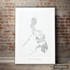 Philippines Map: Country Map of the Philippines - Colour Series Art Print