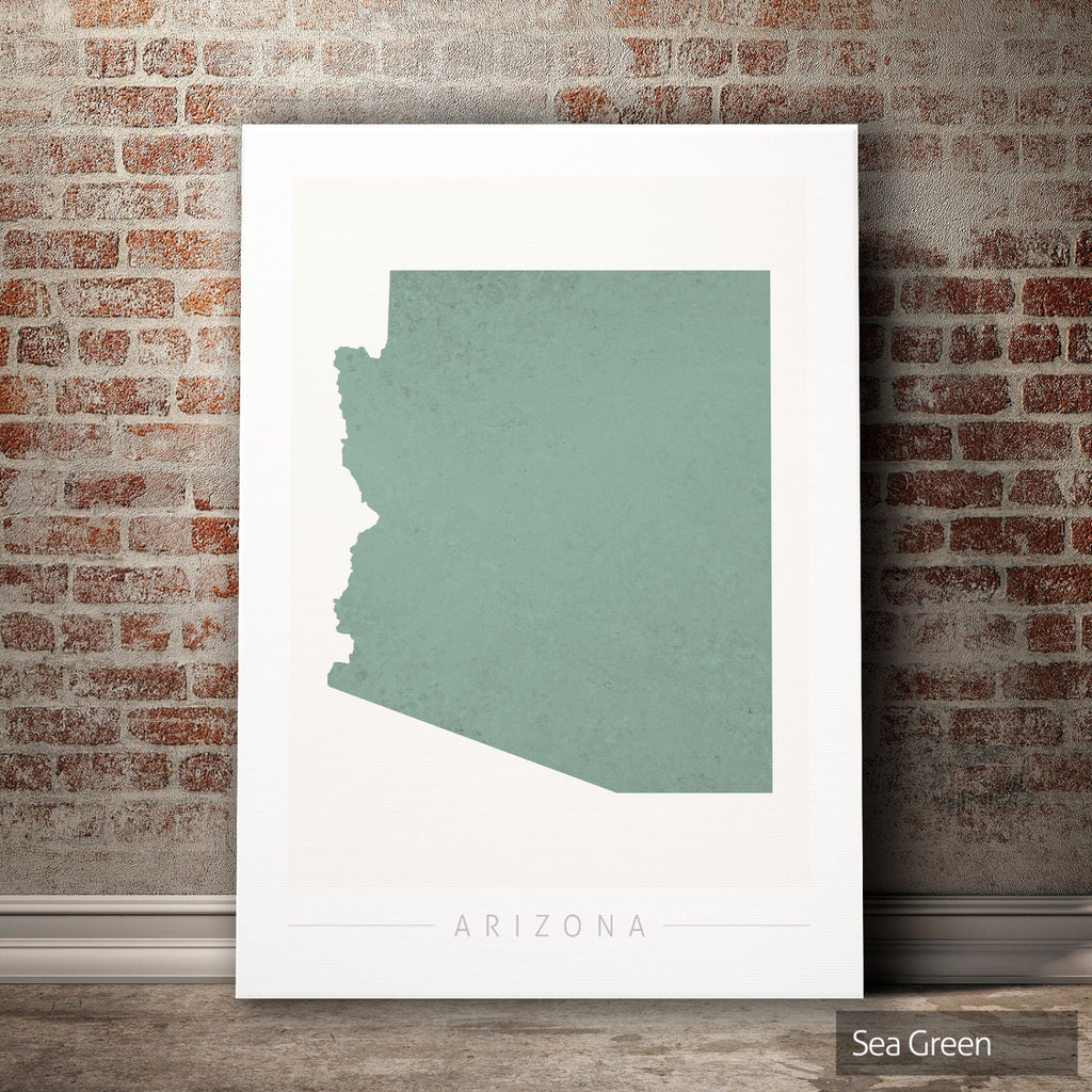 Arizona Map: State Map of Arizona - Colour Series Art Print