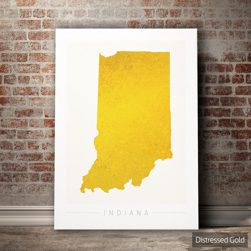 Indiana Map: State Map of Indiana - Colour Series Art Print
