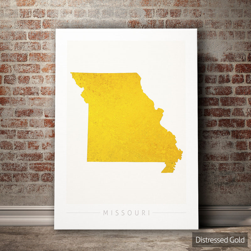 Missouri Map: State Map of Missouri - Colour Series Art Print