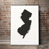 New Jersey Map: State Map of New Jersey - Colour Series Art Print