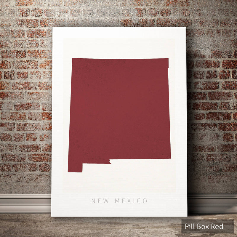 New Mexico Map: State Map of New Mexico - Colour Series Art Print