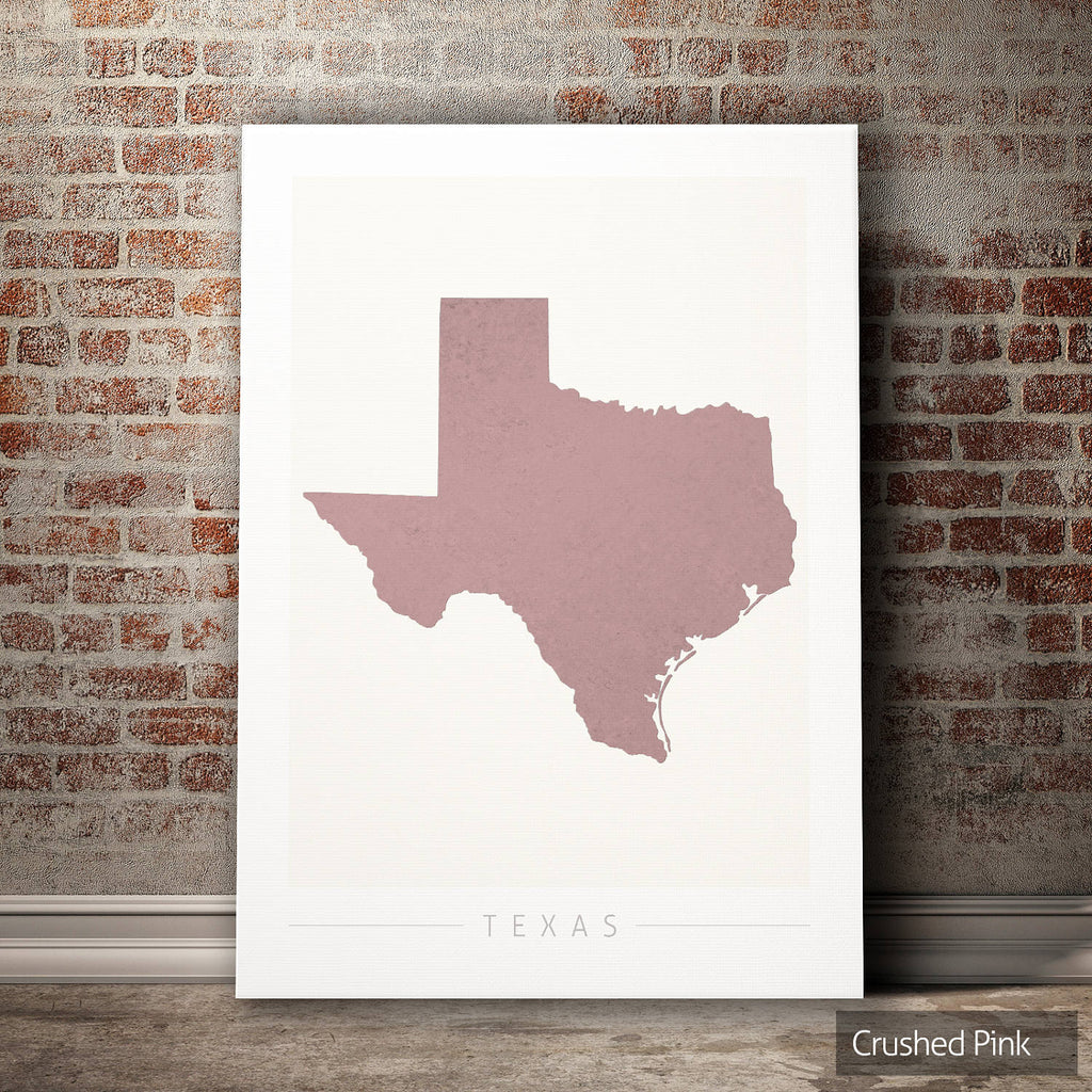 Texas Map: State Map of Texas - Colour Series Art Print