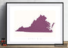 Virginia Map: State Map of Virginia - Colour Series Art Print