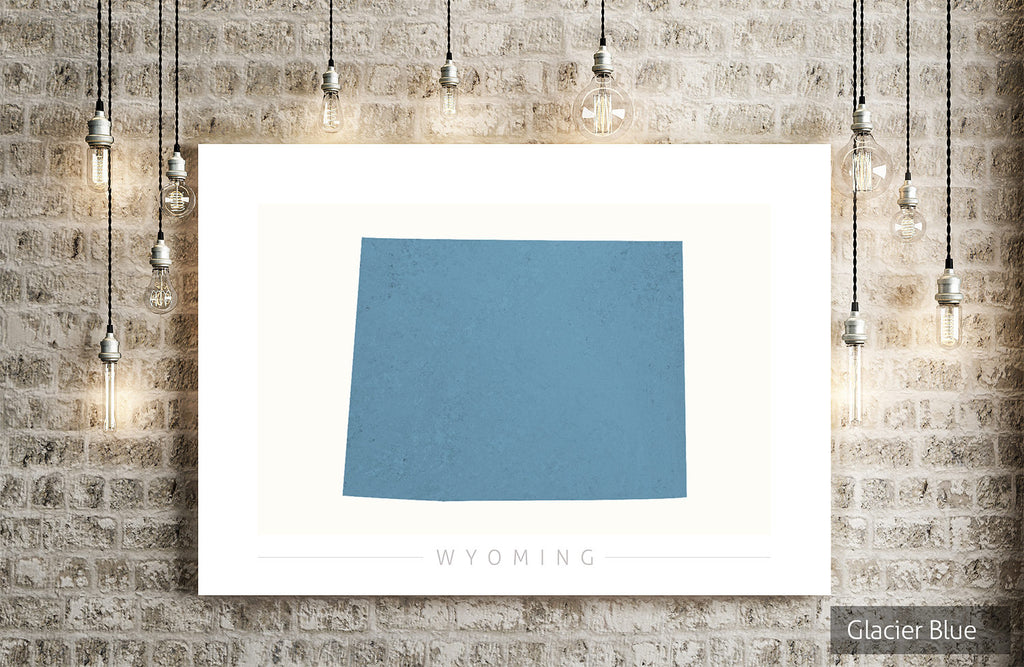 Wyoming Map: State Map of Wyoming - Colour Series Art Print