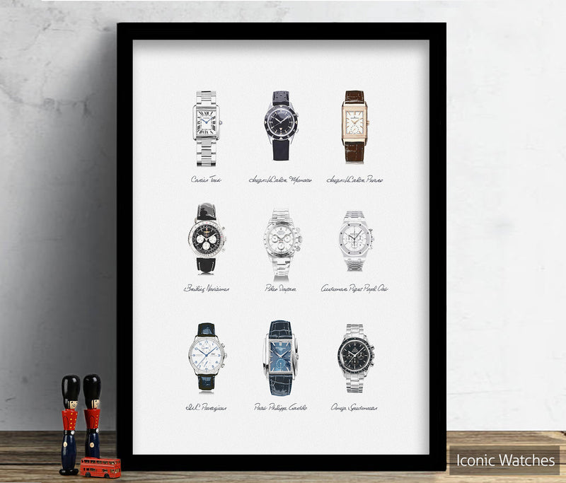 Collector Series: Iconic Watches Illustration Watercolour Art Print