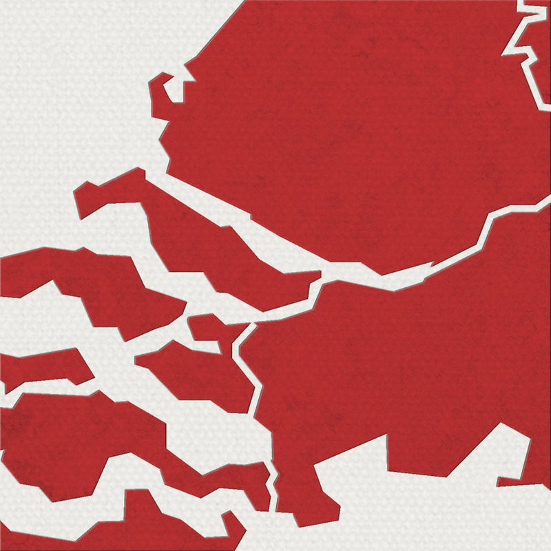 Netherlands Map: Country Map of Netherlands - Colour Series Art Print