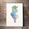 Tunisia Map: Country Map of Tunisia - Nature Series Art Print