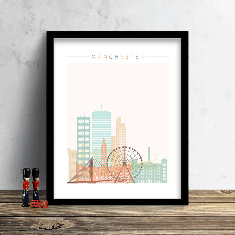 Manchester Skyline: Cityscape Art Print, Home Decor