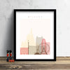 Orlando Skyline: Cityscape Art Print, Home Décor - Summer Theme