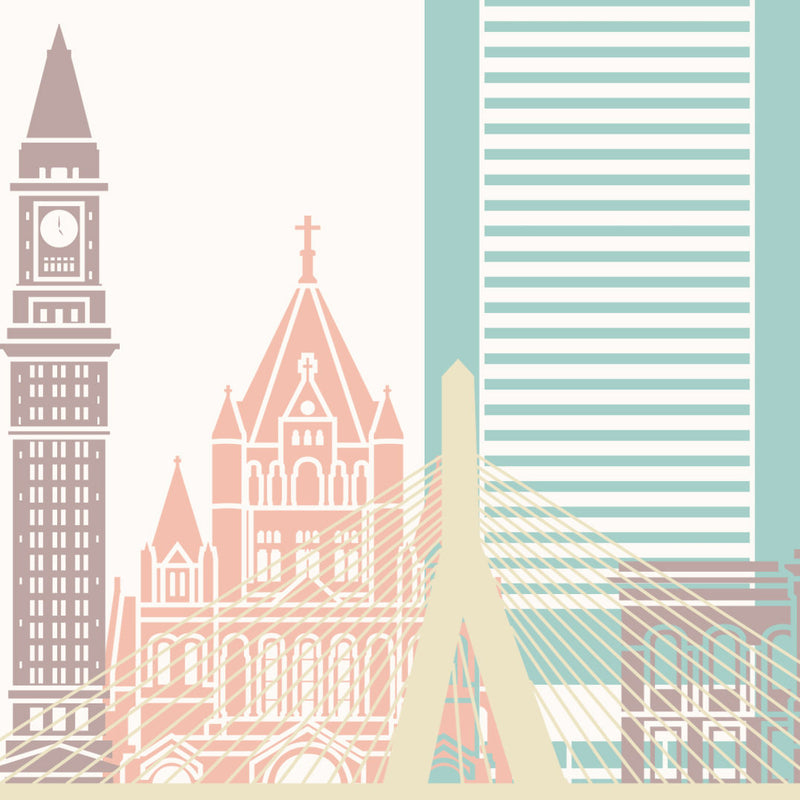 Boston Skyline: Cityscape Art Print, Home Décor