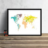World Map: Watercolor Illustration Wall Art - Bubblegum Theme