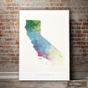 California Map: State Map of California - Nature Series Art Print