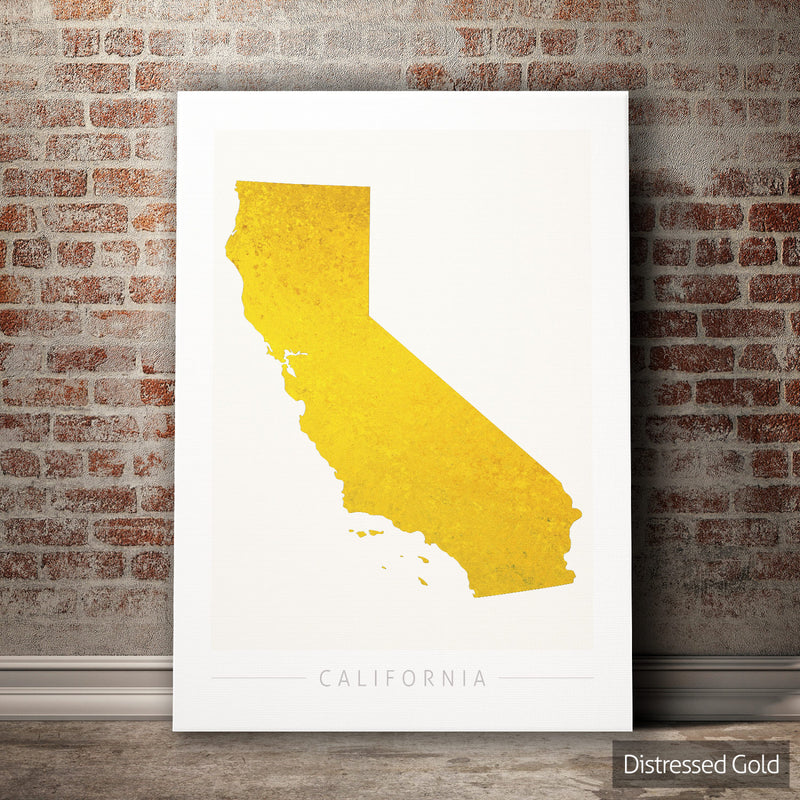 California Map: State Map of California - Colour Series Art Print