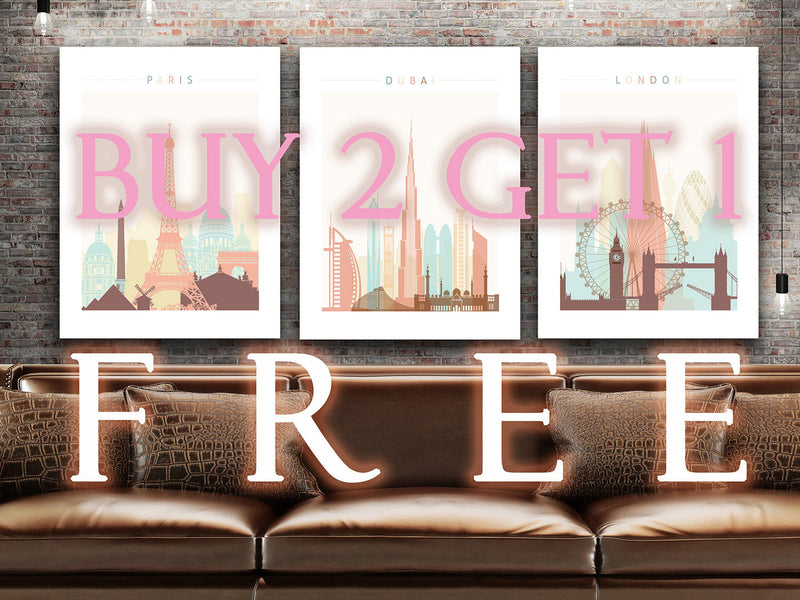 Florence Skyline: Cityscape Art Print, Home Décor - Summer Theme