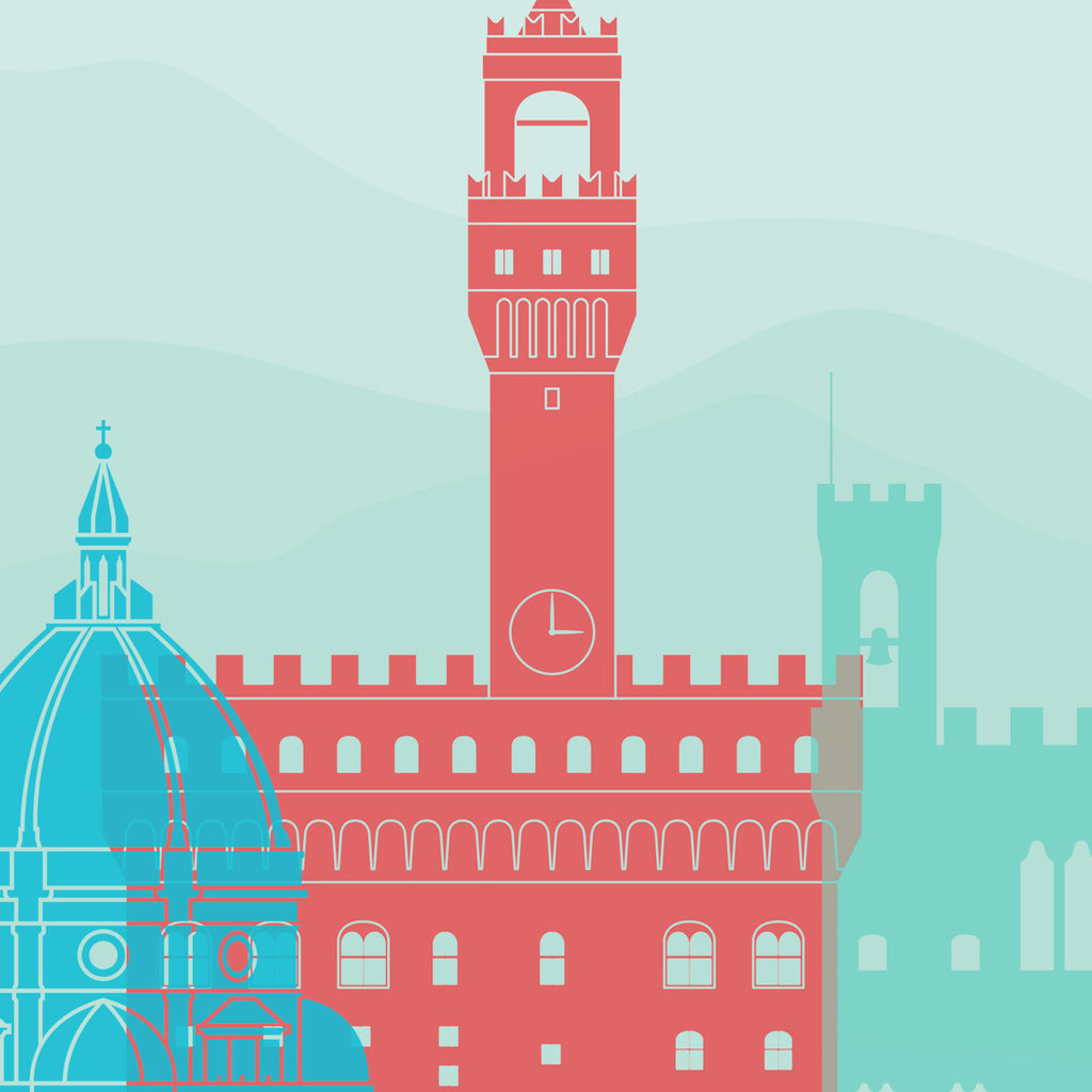 Florence Skyline: Cityscape Art Print, Home  - Winter Theme