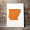 Arkansas Map: State Map of Arkansas - Colour Series Art Print