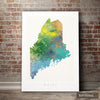 Maine Map: State Map of Maine - Nature Series Art Print