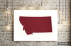 Montana Map: State Map of Montana - Colour Series Art Print