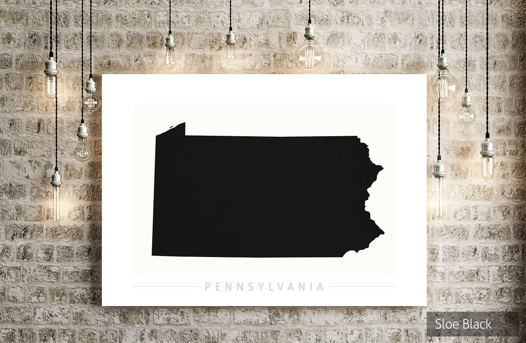 Pennsylvania Map: State Map of Pennsylvania - Colour Series Art Print