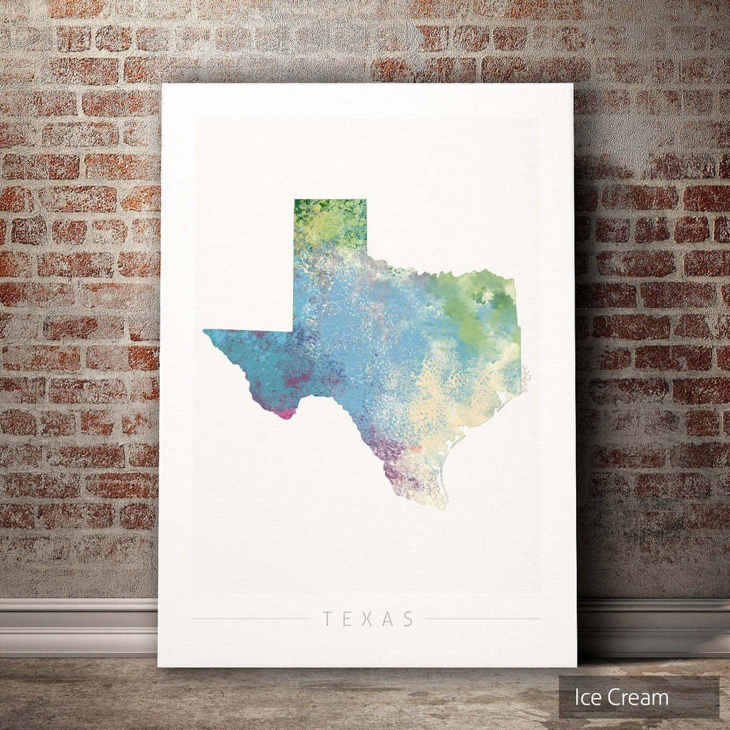 Texas Map: State Map of Texas - Nature Series Art Print