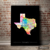 Texas Map: State Map of Texas - Sunset Series Art Print