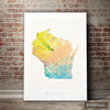 Wisconsin Map: State Map of Wisconsin - Nature Series Art Print