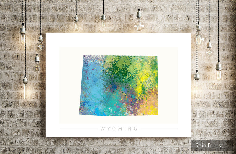 Wyoming Map: State Map of Wyoming - Nature Series Art Print
