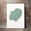 East England Map: County Map of East England - Colour Series Art Print