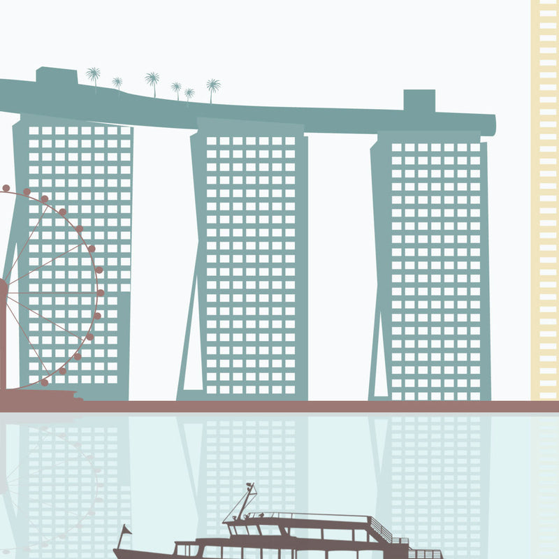 Singapore Skyline: Cityscape Art Print, Home Décor